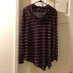 Maurices cowl neck top with asymmetrical hem